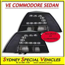 VE COMMODORE BLACK LED TAIL LIGHTS FOR OMEGA SV6 SS SS-V SSV SEDAN DRL