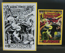 Original Production Art JOHN ROMITA Amazing Spider-Man #109 matted w/cover print