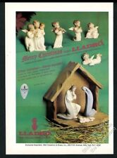 1978 Lladro porcelain Christmas Nativity Scene angel photo vintage print ad