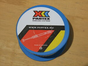 Partex PA 1/3 Cable Markers Black on White part reel (800+) - various available