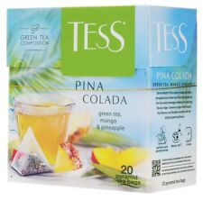 4x tè Tess Pina Colada Green Tea, Mango & Pineapple 20 Pyramid