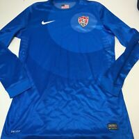 Team USA Nike Soccer Jersey Long Sleeve Blue Large