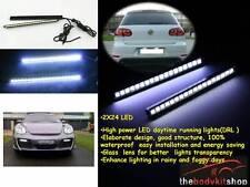 Pair of  24 LED Car DRL Fog Strip Daytime Running Light Super Bright UK STOCK