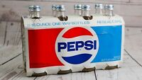 Vintage PEPSI COLA Bottles 8-16 Ounce Throw-Away One-Way No Deposit 8 Pack 70's