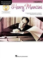 """""""Henry Mancini"""" Instrumental Play-Along For """"Horn"""" Music Book/Cd-New On Sale!"""