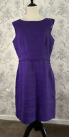 Hobbs Purple Linen/flax Dress Size 14 Summer Wedding