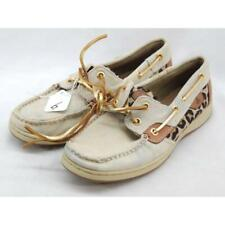Sperry Top-Sider Bluefish 2 Eye Women's Tan Leopard Boats 6M