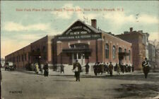 Park Place Station New York City to Newark NJ Street Scene c1910 Postcard