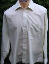 Men's Burberry London Yellow Striped Cotton Shirt Size 16-R EUC Made in USA