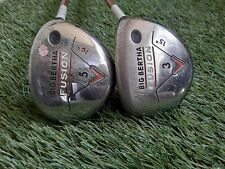 Callaway Fusion 3 + 5 Fairway Woods Golf Clubs (2pc) 55S Stiff Flex Aldila