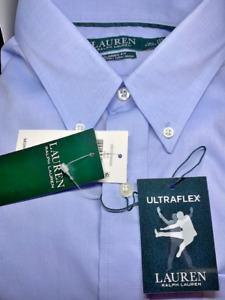"""Men's RALPH LAUREN Ultra Flex """"Non-Iron"""" Long Sleeve Dress Shirts NEW $80"""