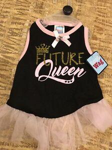 "Smoocie Pooch Pink & Black ""FUTURE QUEEN"" Dress Puppy/Dog - medium"