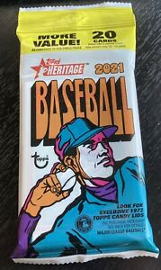 2021 Topps Heritage Guaranteed Real One Auto/Auto Relic/Relic Sealed Hot Pack!!