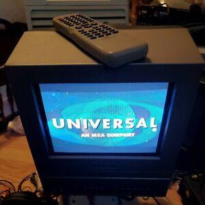 """EMERSON EWC09D5 9"""" Portable TV/DVD Combo Retro Gaming, Flat Screen w.Remote/Case"""