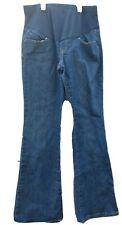 Old Navy Maternity Jeans Womens Size 4 Short Dark Wash Full Panel Flare Pockets