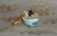 New Juicy Couture Yorkie in Bubble Bath Charm for Bracelet Necklace Handbag