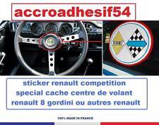 sticker centre de volant renault competion r8,r12 gordini, ALPINE,dauphine 4cv+