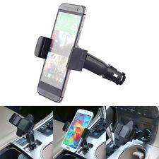 Universal Cell Phone USB Car Charger Cigarette Lighter Mount Car Holder New
