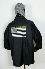Meridian Skateboards Coach Coaches Jacket Jacke Checkers n Stripes Black in L