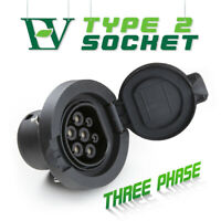 Morec EV Charging Socket Outlet Type2 Connector 4 Point Fixed 32A 3Phase IEC