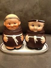 Goebel Friar Tuck Monk Creamer and Sugar W Germany