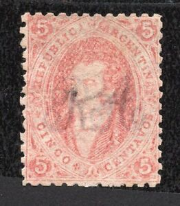 Argentina 1864 stamp Mi#11 MH CV=36€