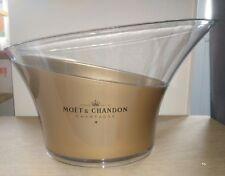 Grande vasque XXXL champagne Moët et Chandon couleur or et transparent