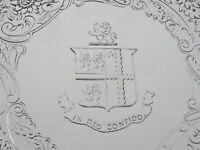 Antique Silver Salver with Armorial Crest, Joseph Angell I 1822, IN DEO CONFIDO