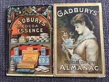 Cadburys Cocoa Almanac 1886 Fold Out Ephemera