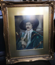 framed and glazed watercolour 'Cavalier gentleman' signed W. H. Baker,