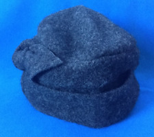 CLOCHE WITH KNOT Hat ~ Grey One Size 100% Wool ~ National Trust Accessories