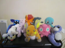 Pokemon Beanie Baby Plush lot of 9 Squirtle Snorlax Mewtwo Jigglypuff 4 KFC
