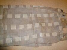 """Single linen gauze fabric door curtain net 46"""" wide x 70"""" drop"""