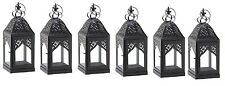 """Small Black Crown Metal Candle Lantern 14"""" (Set of 6) Wedding Supplies 10015362"""