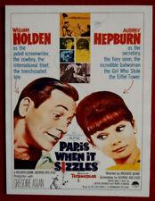 AUDREY HEPBURN - Individual Card # 09 - Movie Idols Set - PARIS WHEN IT SIZZLES
