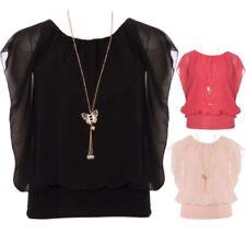 Maglie e camicie da donna maniche a pipistrello viscosa senza marca
