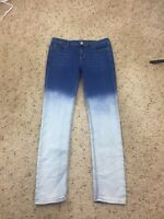 Allen B Allen Schwartz Two Tone Slim Denim Jeans Size 12 Measured 31 x 30.25