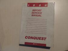 Repair Shop SERVICE MANUAL MANUEL D'ATELIER PLYMOUTH CHRYSLER Conquest 1986