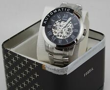 NEW AUTHENTIC FOSSIL GRANT TOWNSMAN AUTOMATIC SILVER BLACK MEN'S ME3103 WATCH