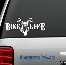 B1063 BIKE LIFE MOTORCYCLE Decal Sticker Car Truck SUV Van BIKER HELMET ART