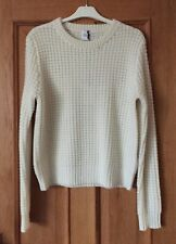NWT MADELEINE THOMPSON CREAM CHUNKY KNIT 100% CASHMERE NETHERBY JUMPER SWEATER S