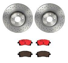 Brembo Front Brake Kit Ceramic Pads Drilled Disc Rotors For Imreza 02 Outback 01
