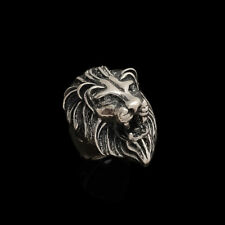 Bikers National Animal Fine Jewelry New 925 Sterling Silver Lion Face Ring Men's
