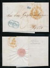 GB 1844 to PORTUGAL MANUEL JOAQUIM SOARES SEAL + SIGNATURE LONDON PAID + 210R