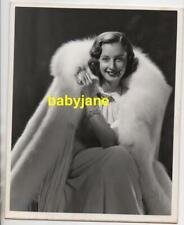 BARBARA STANWYCK ORIGINAL 8X10 PHOTO 1937 GLAMOUR PORTRAIT BY ERNEST BACHRACH