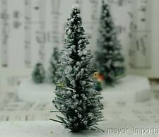 "Snowy Evergreen Tree - 4"" - Set of 3"