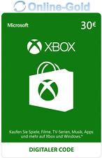 Xbox Live Card - 30 Euro Microsoft Guthaben - ms Xbox 360 / Xbox One Live Card