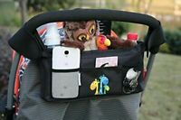 Pushchair Pram Organiser Cup Holder Storage Baby Buggy Stroller Bag