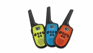 UNIDEN UH35-3 80 Channel Mini Compact UHF Handheld Radios – Triple Colour Pack