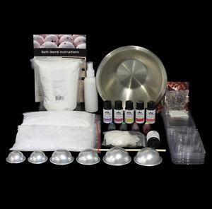Bath Bomb Kit - Makes 40+ Bath Bombs inc bath bomb molds, glitter & botanicals